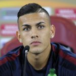 Paredes in conferenza stampa di Europa League